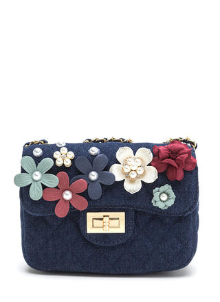 Garden Party Quilted Denim Bag