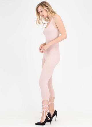Step Right Up Tied Ankle Jumpsuit