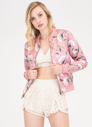Garden Party Floral Bomber Jacket