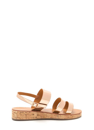 Fancy Footwork Metallic Sandals