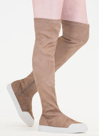 Way Up Top Thigh-High Sneaker Boots