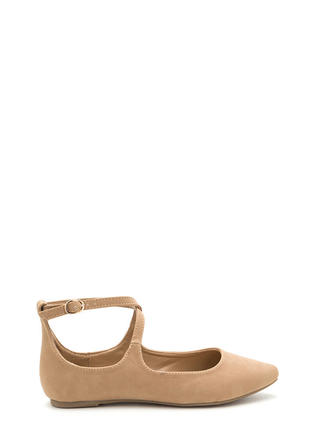 You Crossed Me Pointy Strappy Flats