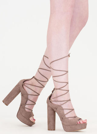 Do The Wave Chunky Lace-Up Platforms