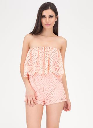 All Eyelets On You Lacy Tube Romper