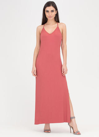 Speed Racer Ribbed Double Slit Maxi