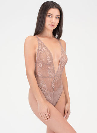 Lace Go Sheer Tied Bodysuit