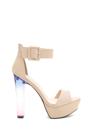 What A Trip Chunky Lucite Platforms