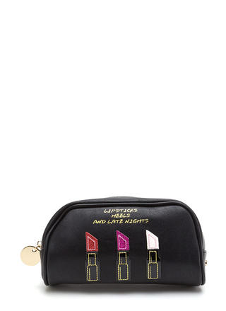 Lipsticks Heels Late Nights Makeup Bag