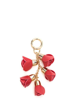 Bouquet Of Roses Chained Keyring