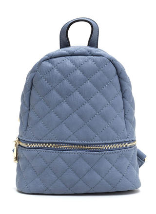 Quilted Cool Faux Leather Mini Backpack