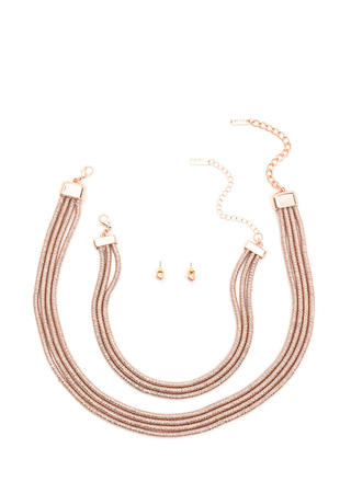 Double Double Coiled Necklace Set