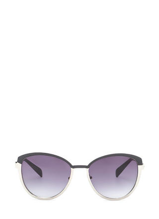Around The Colorblock Rounded Sunglasses