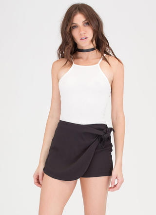 When 2 Become 1 Knotted Skort