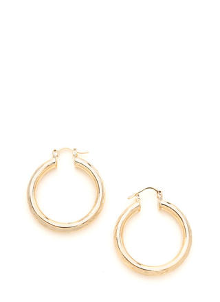 Rings True Thick Hoop Earrings