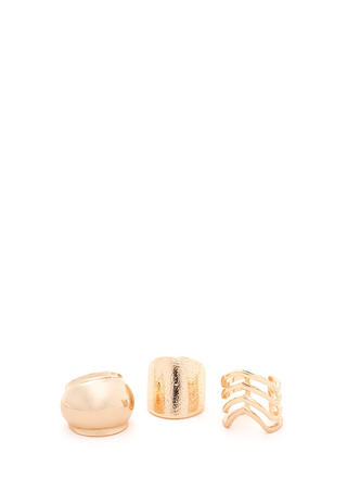 So Well-Rounded Chunky Ring Trio