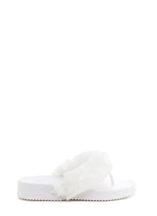 Once And Fur All Jelly Thong Sandals