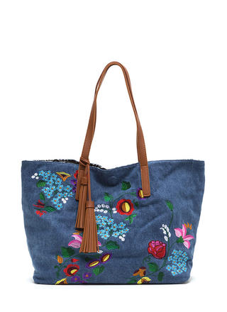 Decision Maker Woven Embroidered Tote