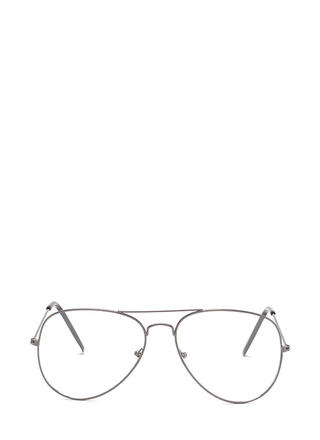 Geek Squad Clear Brow Bar Glasses