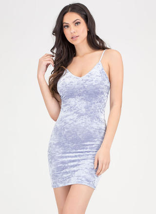 Royal Plush Crushed Velvet Dress