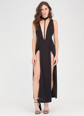 Fit To A T Double Slit Choker Maxi