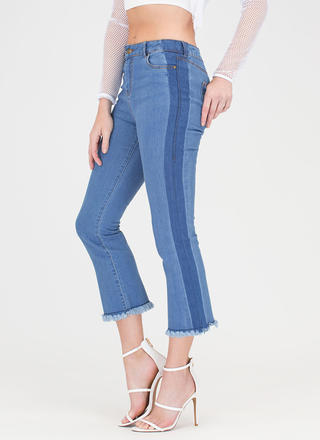 What A Release Cropped Flared Jeans