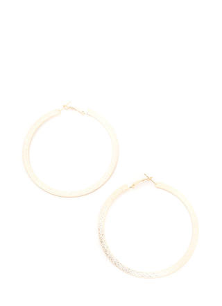 Flat Out Glittery Hoop Earrings