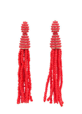 Festival Fun Bead Tassel Earrings