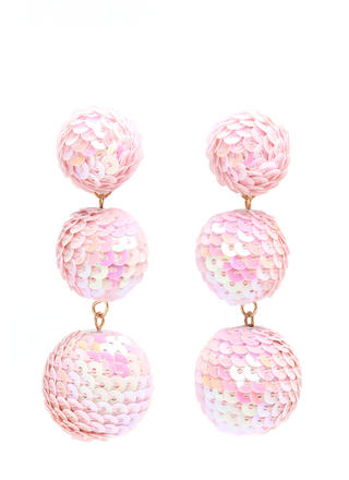 Having A Ball Sequined Earrings