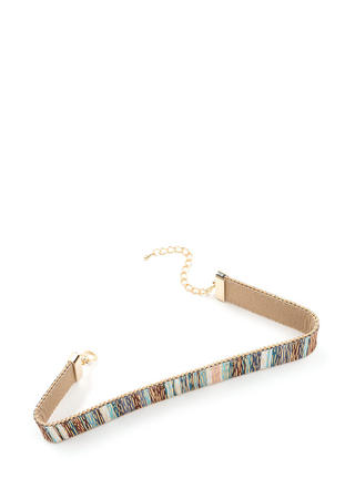 Chic For Yourself Wide Printed Choker