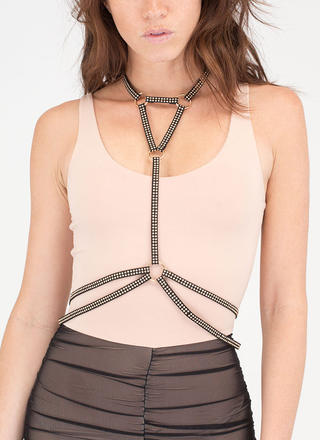 Studs And Straps Harness Bodychain