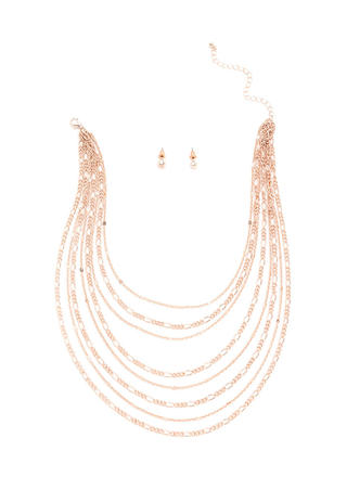 Chains Of Love Layered Necklace Set