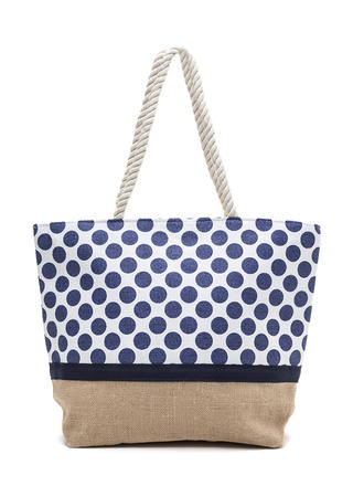 On The Dot Large Woven Tote Bag