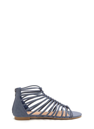 Ladder To The Top Denim Sandals