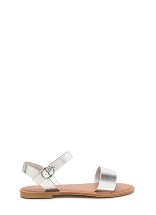 Chic About It Strappy Metallic Sandals