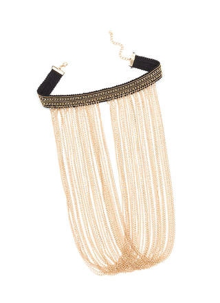 Chain-ing Waterfalls Layered Choker