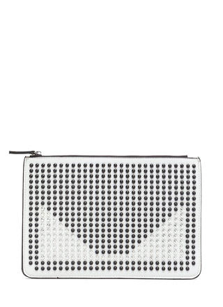 Punk Lifestyle Studded Contrast Clutch