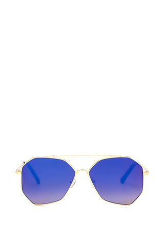 New Angles Mirrored Aviator Sunglasses
