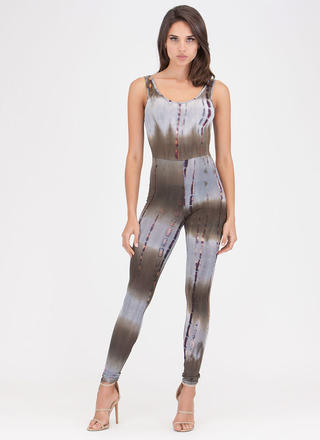 Boho Tie-Dye Goddess Scoop Jumpsuit
