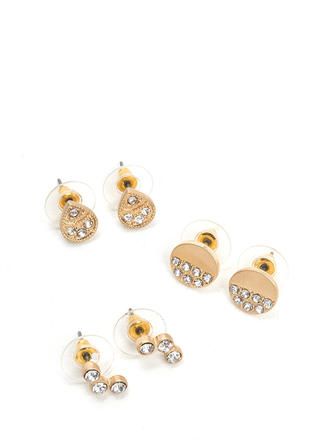 Modern Bling Shiny Earring Set