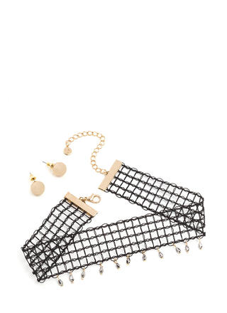 Net Worth Embellished Choker Set