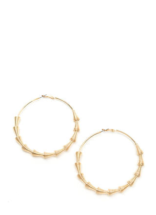 On The Wire Coiled Cone Hoop Earrings