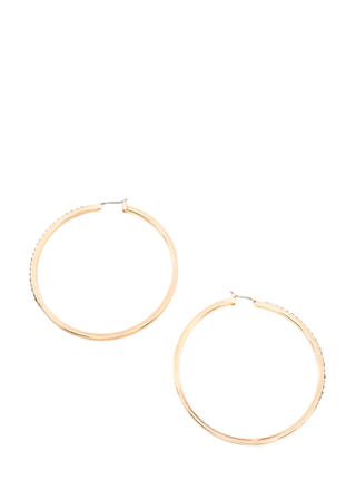 Glisten Here Rhinestone Hoop Earrings