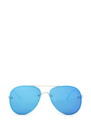 Under The Sun Shiny Aviator Sunglasses