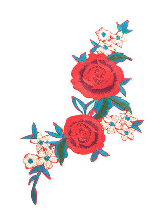Rose Call Embroidered Floral Patch