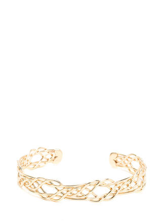 Intertwined Lives Wire Cuff Bracelet