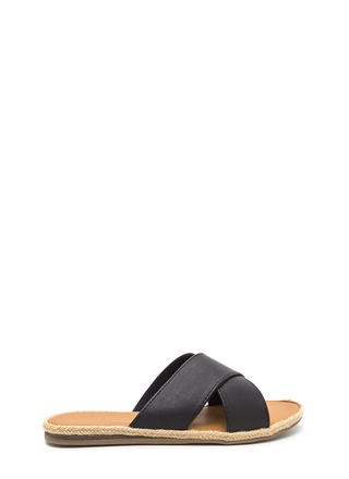 Strappy Day Espadrille Slide Sandals