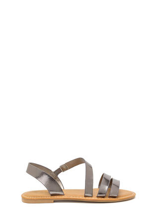 Picture Perfect Strappy Metallic Sandals