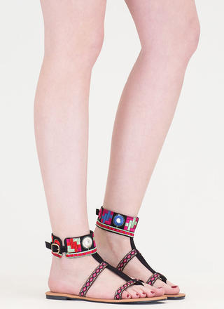 Southwest Mood Embroidered Sandals