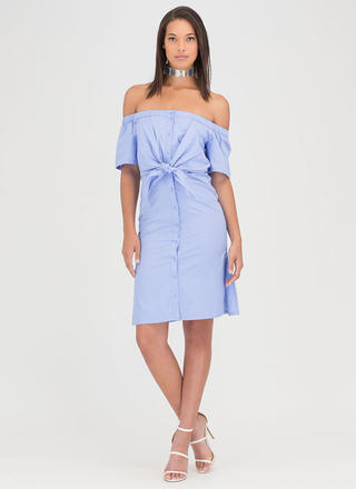 Picnic Date Tied Off-Shoulder Dress