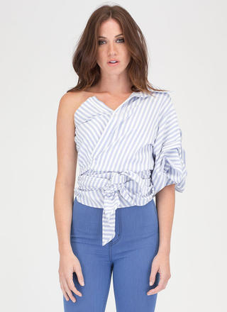 Tie Breaker Deconstructed Striped Shirt